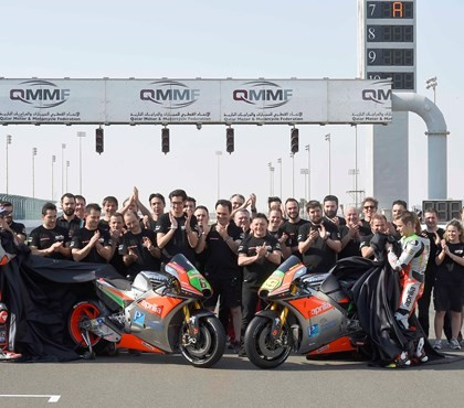 APRILIA'S SECOND MOTOGP SEASON KICKS OFF AT DOHA