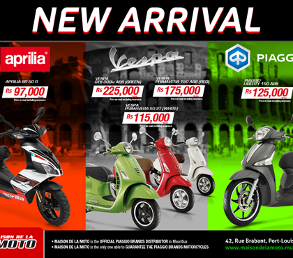 NEW ARRIVALS OF SCOOTERS