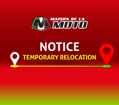 Notice - Temporary Relocation